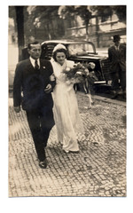 wedding day, couple - circa 1950