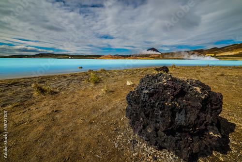 Sulfur lake used as Geothermal Power Station, near Hverarönd, I