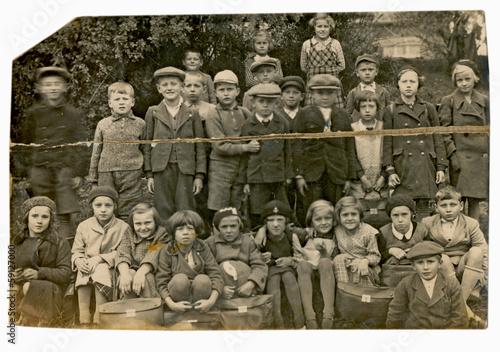 Poster kids, classmates - circa 1940