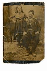 CIRCA 1920 - traditional family, bulgaria