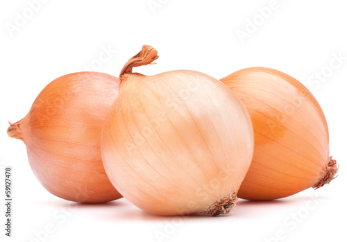 Gold onion vegetable bulbs