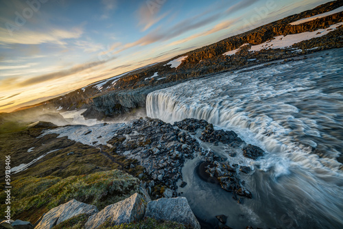 Dettifoss at sunset, Iceland