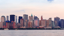 New York City Manhattan coucher du soleil
