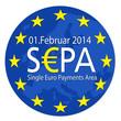Europakarte rund mit SEPA und Sternen