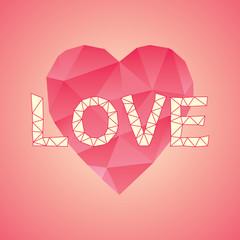 Polygonal Love heart