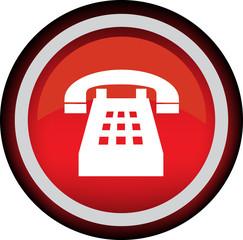 Круглый векторный знак с изображением телефона