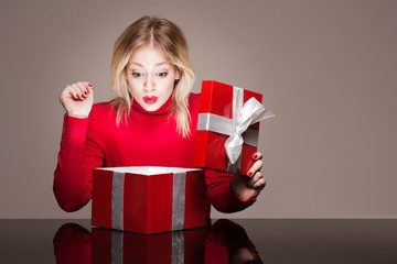 Red gift box cutie.