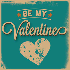 Retro Be My Valentine