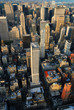 Manhattan aerial view with skyscrapers