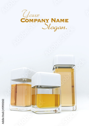 3 containers amber