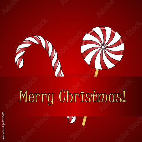 Christmas candies. Vector xmas background