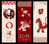 2014 Chinese New Year of the Horse vector