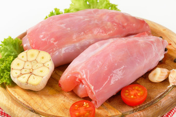 Raw rabbit meat