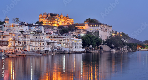 Magnificent view of Udaipur, Rajasthan at night