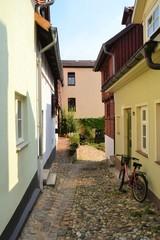 alte Häuser auf dem Münzenberg in Quedlinburg