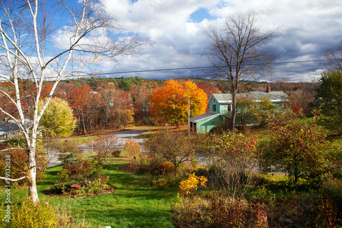 New England Autumn Scenic