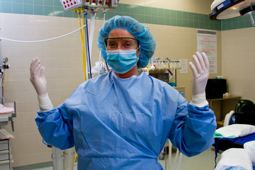 Profile of scrub nurse