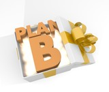christmas gift box with plan b symnol