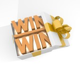 christmas gift box with win win symnol