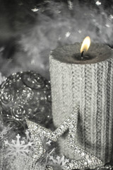 Christmas candle with decoration
