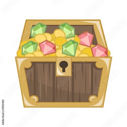 Treasure Chest isolated illustration