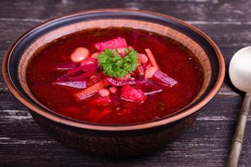 Russian and ukraine cuisine - borsch