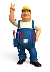Plumber with victory
