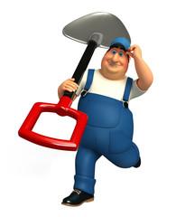 Plumber  with big Spade