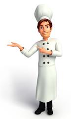 Chef  on a presentation