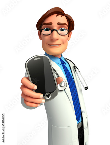 Doctor with mobile