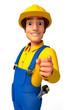 plumber man pointing