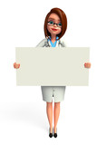 Lady Doctor with sign