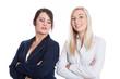 Neid, Eifersucht und Missgunst unter zwei Frauen isoliert