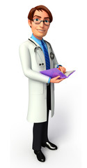Doctor with diary
