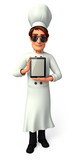 Chef  with iPad