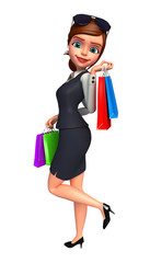 Young Business woman with shopping bags