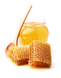 Fresh honey and honeycombs