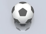 Soccer football ball isolated. 3D.