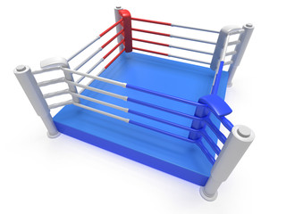 Boxing ring. High resolution 3d render.