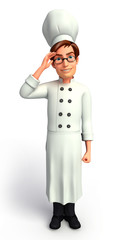 Chef  with salute