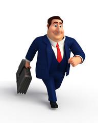 Young Boss running
