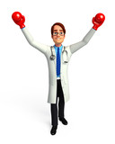Doctor with boxing gloves