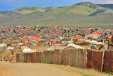 Poor households in outskirts of Ulaanbaatar, Mongolia poster
