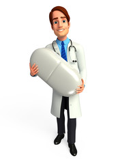 Doctor with medicine