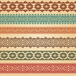 Border decoration elements patterns in different colors