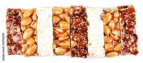Tasty oriental sweets, isolated on white