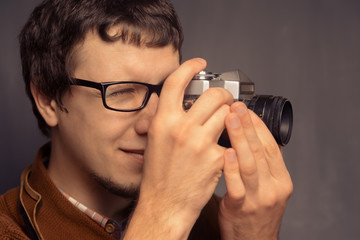 Hipster photographer