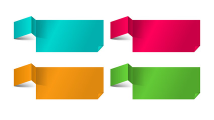 Set of Paper Progress backgrounds. EPS 10 + Jpg