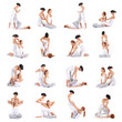 A collection of many different images of women on Thai massage
