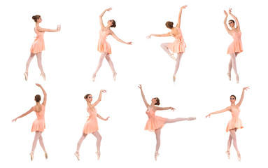 Collection of many different photos of beautiful female dancers